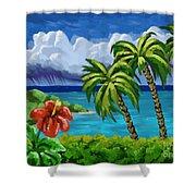 Rain In The Islands Shower Curtain