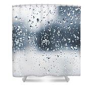Rain In Winter Shower Curtain