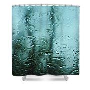 Rain On Bare Trees Shower Curtain