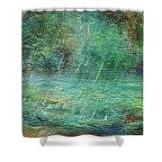 Rain On The Pond Shower Curtain