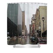 Rain On Water Street 2 Shower Curtain