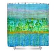Rain  Original Contemporary Acrylic Painting On Canvas Shower Curtain
