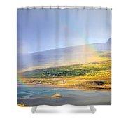 Rain Over Fjords Shower Curtain