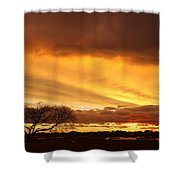 Storm At Dusk 2am-108330 Shower Curtain