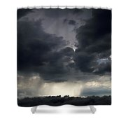 Rain Shafts From Thunderstorm Shower Curtain