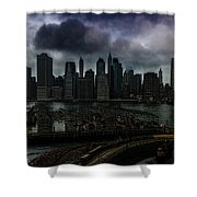 Rain Showers Likely Over Downtown Manhattan Shower Curtain