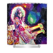 Rain Song Jimmy Page Shower Curtain