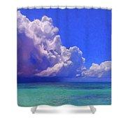 Rain Squall On The Horizon Shower Curtain