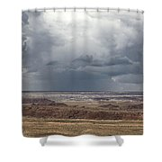 Approaching Storm The Painted Desert Arizona Shower Curtain