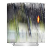 Rain Streaked City Scenes Shower Curtain