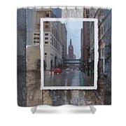 Rain Water Street W City Hall Shower Curtain