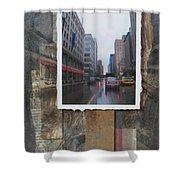 Rain Wisconcin Ave Tall View Shower Curtain