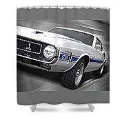 Rain Won't Spoil My Fun - 1969 Shelby Gt500 Mustang Shower Curtain