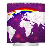Rainbow's World 20 Shower Curtain