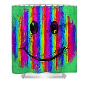 Rainbow Abstract Smiley Face Shower Curtain