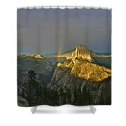 Rainbow And Half Dome 3 Shower Curtain