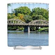 Rainbow Arch Bridge Shower Curtain
