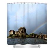Rainbow At Eilean Donan Shower Curtain