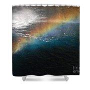 Rainbow At Waterfall Base Shower Curtain