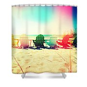 Rainbow Beach I Shower Curtain