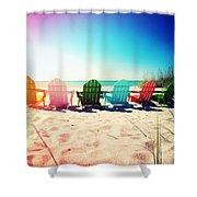 Rainbow Beach Photography Light Leaks1 Shower Curtain