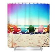 Rainbow Beach Photography Light Leaks2 Shower Curtain