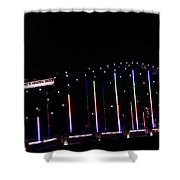 Rainbow Bridge And Super Moon Shower Curtain
