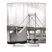 Rainbow Bridge In Tokyo Shower Curtain