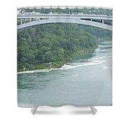 Rainbow Bridge Over Niagara Shower Curtain