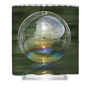 Sun Halo Rainbow Bubble Shower Curtain