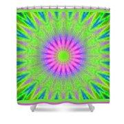 Rainbow Burst Shower Curtain