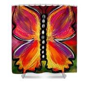 Rainbow Butterfly Shower Curtain