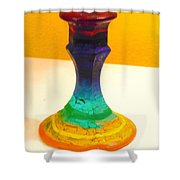 Rainbow Candlestick Shower Curtain