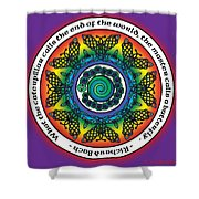 Rainbow Celtic Butterfly Mandala Shower Curtain