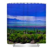 Rainbow Desert Landscape Shower Curtain