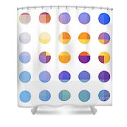 Rainbow Dots  Shower Curtain