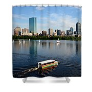 Rainbow Duck Boat On The Charles Shower Curtain