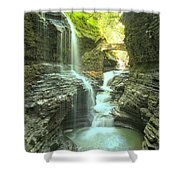 Rainbow Falls Bridge Shower Curtain