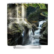 Rainbow Falls Square Shower Curtain