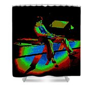 Rainbow Full Of Sound 1977 Shower Curtain