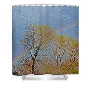 Rainbow In Spring Shower Curtain