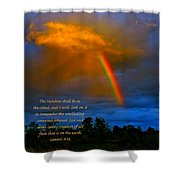 Rainbow In The Cloud Shower Curtain