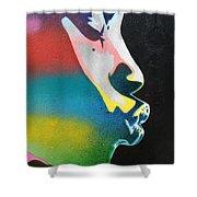 Rainbow Kiss Shower Curtain