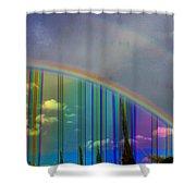 Rainbow Landscape Shower Curtain