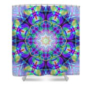 Rainbow Lotus Shower Curtain