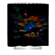 Rainbow Moon Shower Curtain