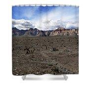 Rainbow Mountain Shower Curtain