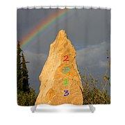 Rainbow New Year 2013 Shower Curtain