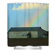 Rainbow On The Farm Shower Curtain