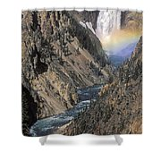 Rainbow On The Lower Falls Shower Curtain